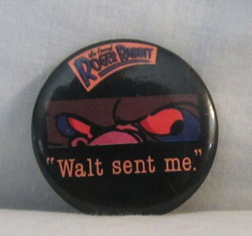 Who Framed Roger Rabbit 1987 Button Walt (Disney) Sent Me