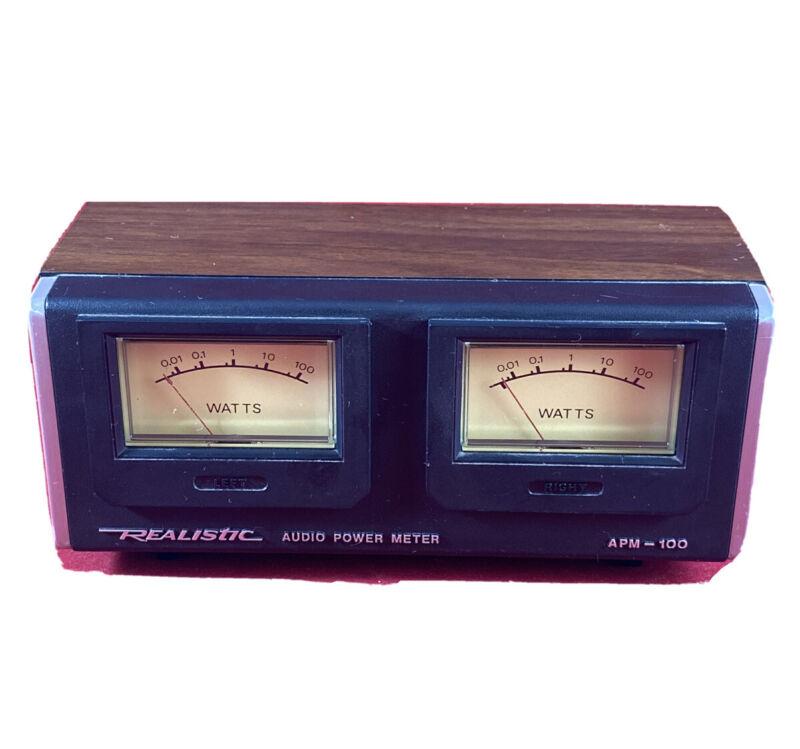 Vintage Retro Realistic Audio Power Meter APM-100