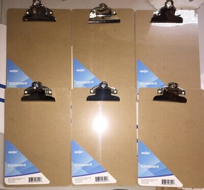 Mini Clipboard 6 X 9 Set Of 6 Memo Clipboard Small Clipboard