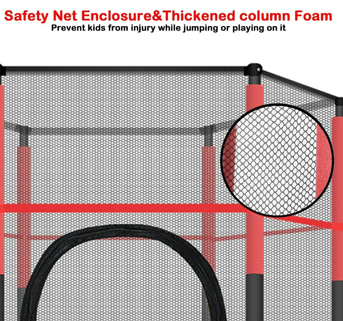 5FT Mini Jumping Round Trampoline Exercise Safety Pad Enclosure Combo US