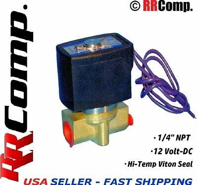 14 Npt 12-volt Dc Brass Electric Solenoid Valve Seal Viton Air Water Oil