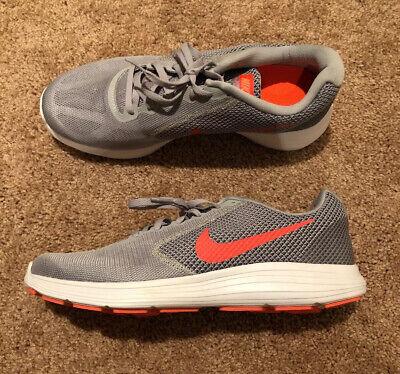 NEW Sz 12 Women's Nike Revolution 3 Wide Running Shoes Wolf Grey