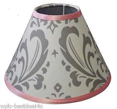 Lamp Shade - Grey Damask by Sisi