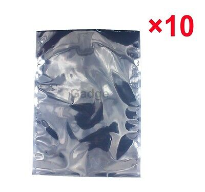 "10 Pack 10"" x 14"" ESD Anti-static Bags for Motherboard, Video Card, Electronic"