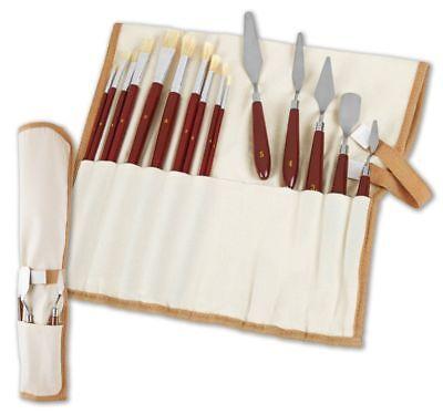 Künstlerpinsel und Spachtel Set 15tlg. Malerspachtel  Gipsspachtel   Pinsel