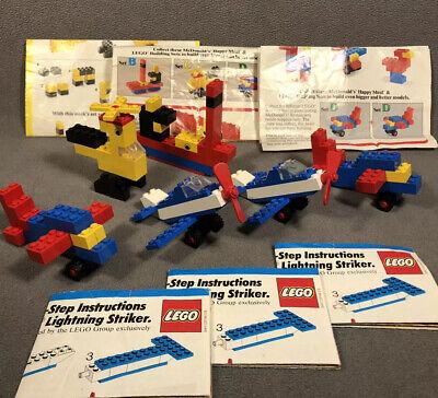 McDonalds Lego Happy Meal Building Sets Lot Sets B C D 2B Vintage 1980s