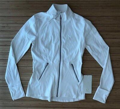 Lululemon WHITE Sleek Essentials Long Sleeve Jacket. Size 6. Brand New With Tags