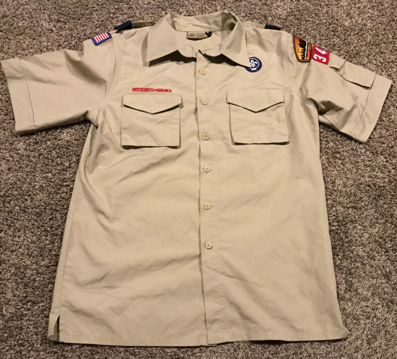 boy scouts of america shirt Khaki Adult S Chicago Button Up A37