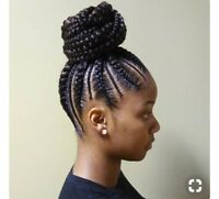 Coiffeuse et Tissage africaines