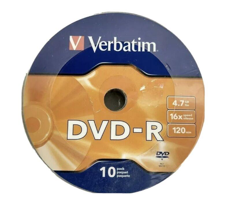 Verbatim 10 Pack 4.7GBDVD-R 16x 120 Minutes Recordable