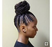 Coiffeuse greffe Tissage African