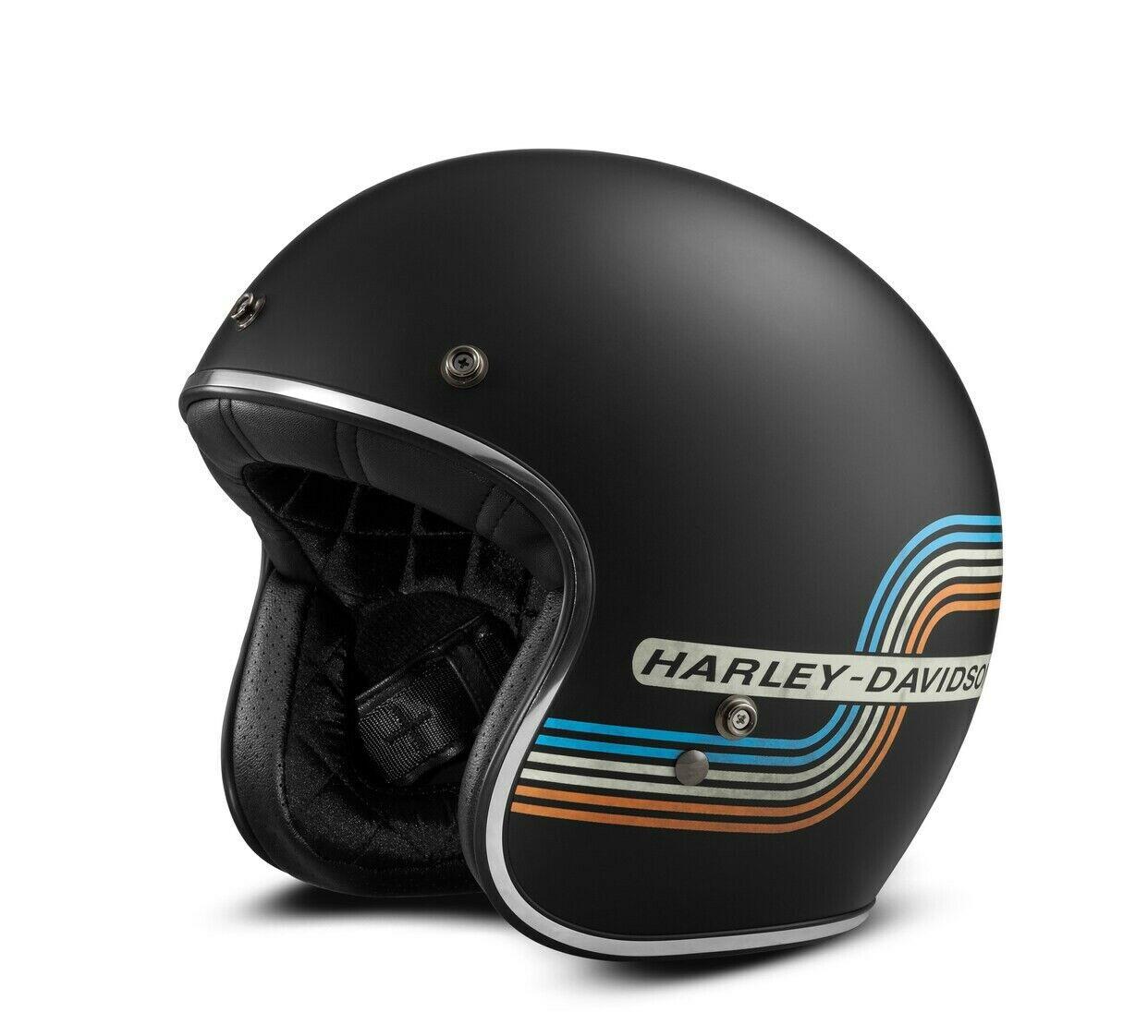 Discontinued Harley Davidson Retro Tank Stripe B01 3/4 Helmet size LARGE
