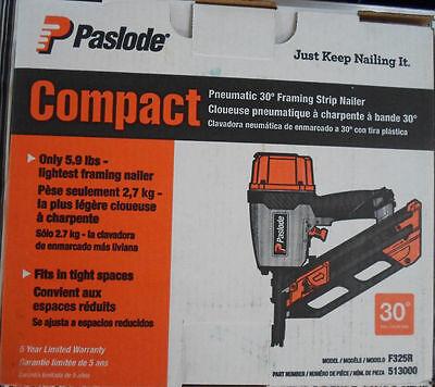 Paslode  30-34° nail gun compact Framing Nailer 513000 fr  f325r