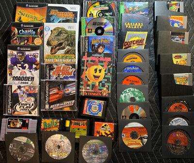 BIG 34 GAME LOT Gamecube Playstation Wii Sega Genesis SNES NES Xbox 360 PS1