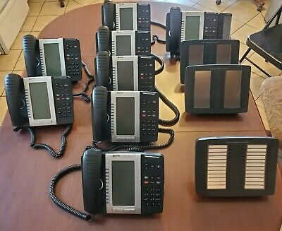 Lot Of 8 Mitel Business Office Phones 3 Phone Consoles