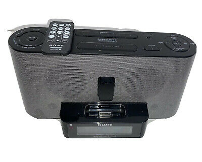 Sony dream machine ICF-C1iPMK2 am/fm dual alarm clock radio ipod dock W/ Remote