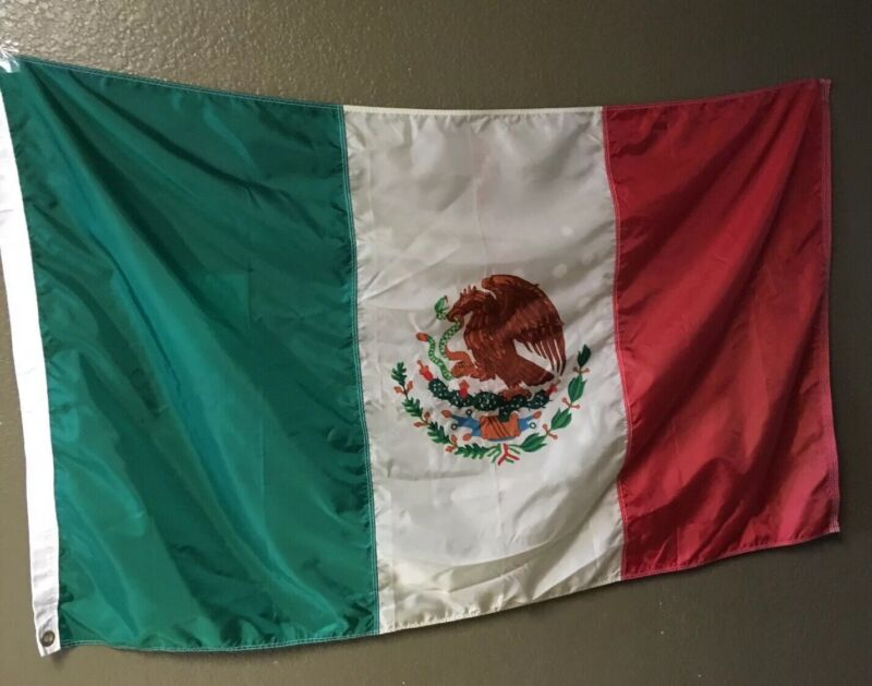 """59"""" X 35"""" Nylon Mexico Flag Nyl-Glo Annin"""