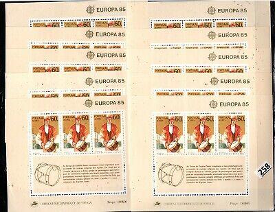 # 10X PORTUGAL, AZORES 1985 - MNH - EUROPA CEPT - MUSIC