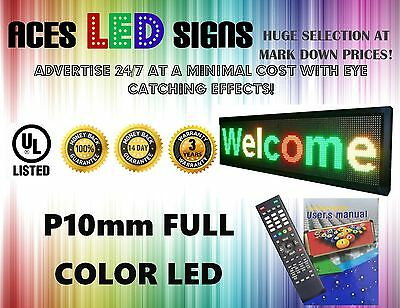 Led Sign 14 X 78 Programmable Scroll Message Board Full Color P10mm