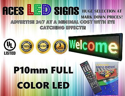 Led Sign 8 X 40 Programmable Scroll Message Board Full Color P10mm