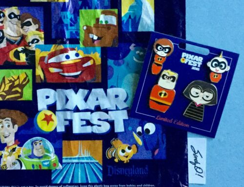 Disney The INCREDIBLES PIXAR FEST (4) PIN SET 2018 Limited Ed. NEW