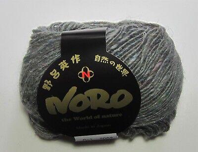 - LOT of 10 balls NORO SILK GARDEN LITE SOLO silk mohair wool yarn #2002 SILVER