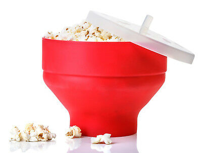 Microwave Silicone Popcorn Popper Maker Collapsible Bowl Kitchen Tool Home Diy S