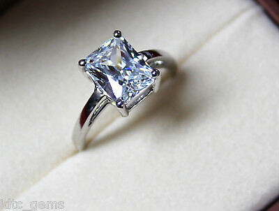 2.15 CT EMERALD CUT D/SI1 DIAMOND SOLITAIRE ENGAGEMENT RING 14K WHITE GOLD