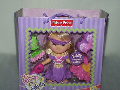 Snap And Style Doll Juliet Blonde Brown Eyes Fisher Price - New