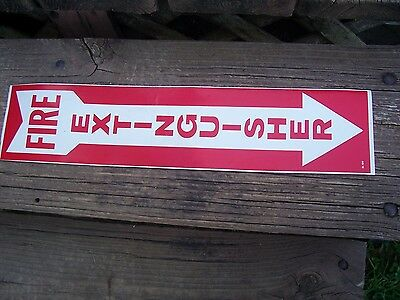 Fire Extinguisher Sign 4 X 18 Vinyl Sign  Lot Of 4 Meets Osha Req.
