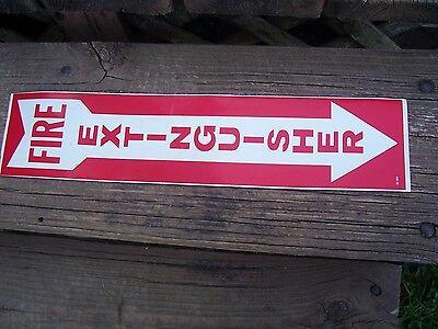 """Fire Extinguisher Sign, 4"""" x 18"""" vinyl sign LOT OF 4 MEETS OSHA REQ."""