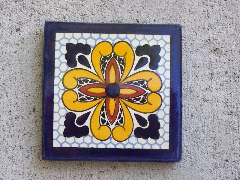 Handpainted Tile - Classic Talavera Pattern #2 - Mexico