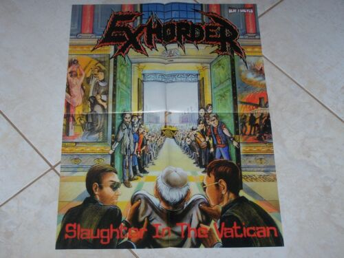 EXHORDER SLAUGHTER IN THE VATICAN / JUDAS PRIEST SCREAMING FOR VENGEANCE  POSTER