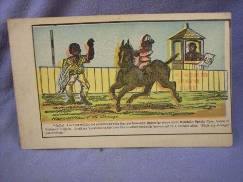 BLACK  AMERICANA TRADE CARD KENDALL