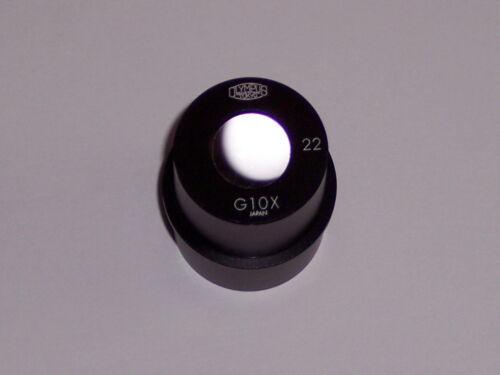 Olympus G10x 22  microscope eyepiece G 10 x