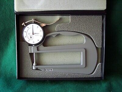 Mitutoyo 7322 0-1 Dial Thickness Gage. .001 Grad. 4.72 Throat Depth. New.