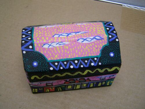 Painted Folk Art Wooden Jewelry Box - Anita Gomez - Oaxaca, Mexico