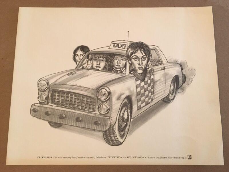RARE Television 1977 Marquee Moon Promo print Poster Tom Verlaine