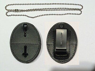 Heros Pride Universal Shield Badge Holder For Belt Or Neck Police Security Badge