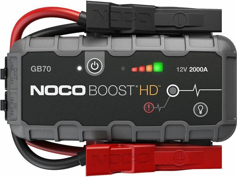 NOCO Boost HD GB70 2000 Amp 12-Volt UltraSafe Lithium Jump Starter Box, Car Batt