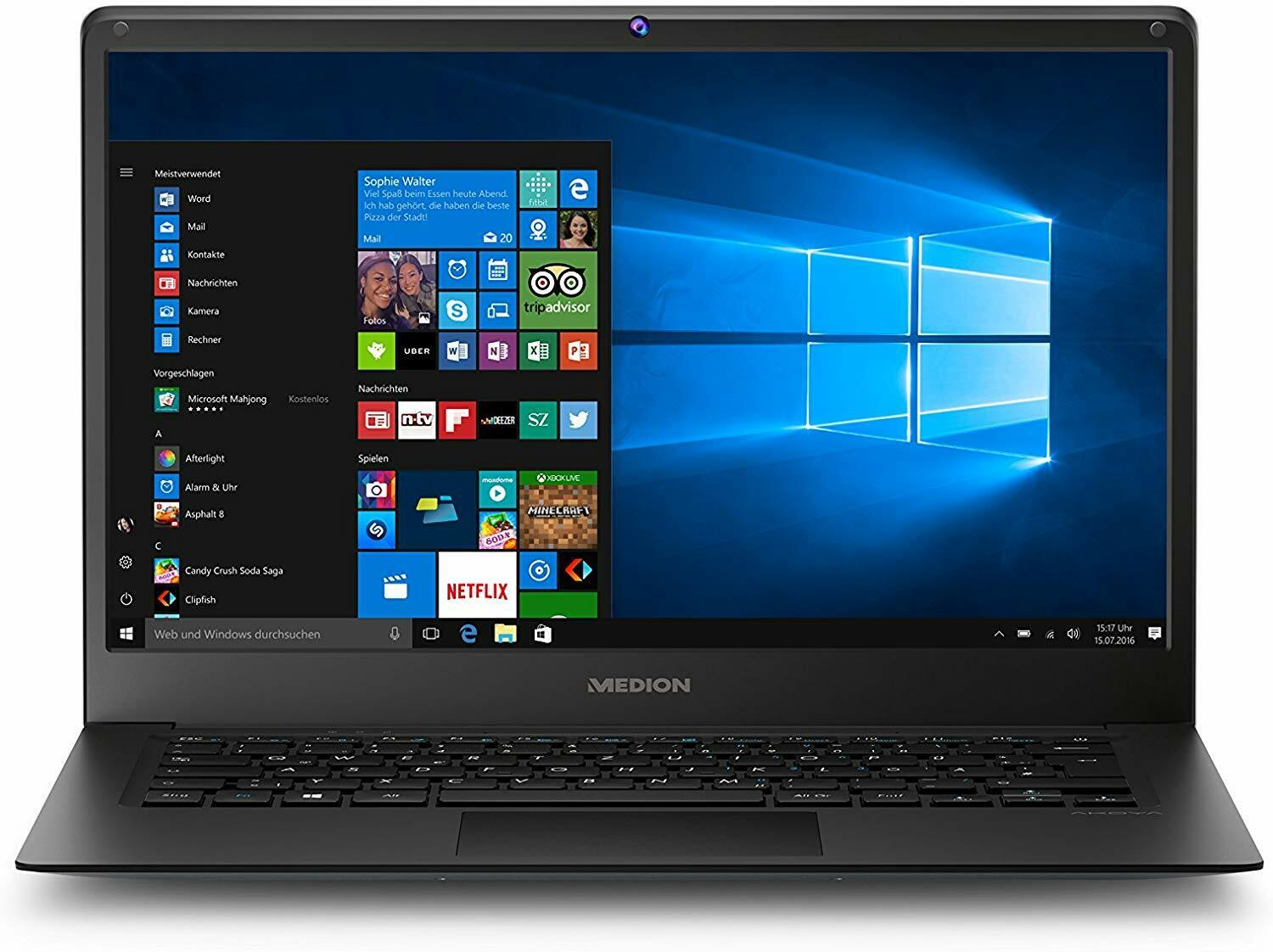"14""/35,56cm Notebook Medion E4241 Intel 4x1,92GHz 2GB RAM 64GB SSD Full-HD Win10"
