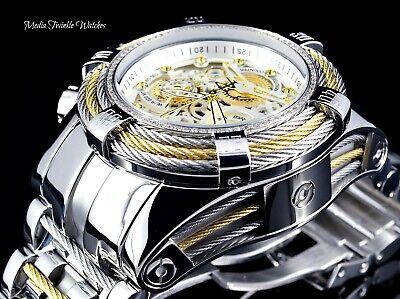 Invicta Reserve Bolt Zeus Tri-Cable Swiss Quartz 0.33ct DIAMOND All Silver Watch