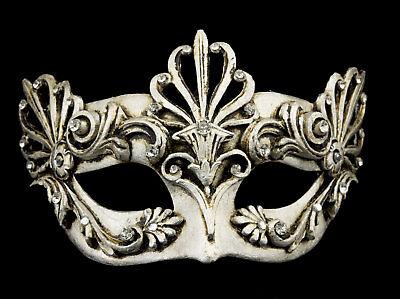 Mask Venice Colombine Barocco Air silver Paper mash costume 22325