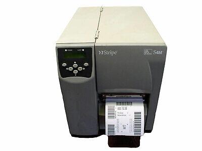 Zebra S4M Direct Thermal Industrial Label Printer bonus extra free labels 6mo.  comprar usado  Enviando para Brazil