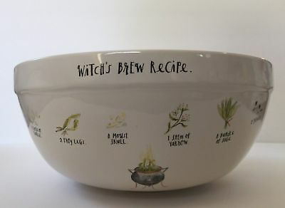 Rae Dunn Halloween Witch's Brew Cauldron Recipe Nesting Mixing Bowl Candy Green](Halloween Mix Recipe)