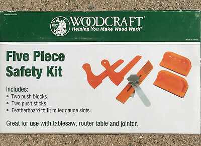 Woodcraft 5 Pc Safety Kit Push Block Stick Woodworking Router Table Tools Orange