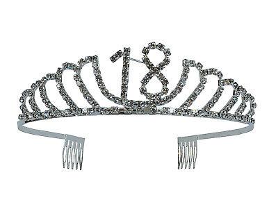 18th Birthday Rhinestone Tiara - Premium Quality Metal Birthday Crown Accessory](18th Birthday Tiara)