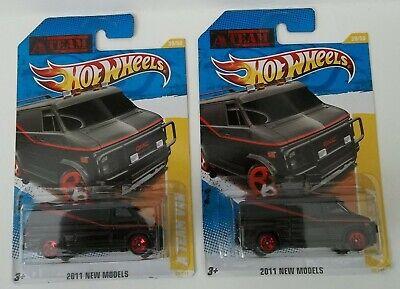 Lot of 2 2011 Hot Wheels New Models A-Team Vans 1983 GMC