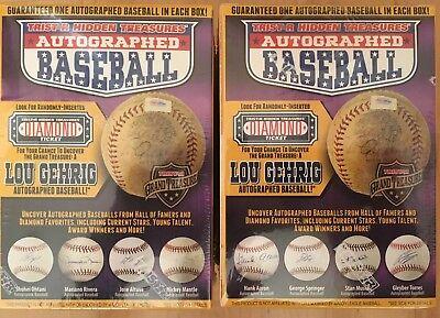 "2 BRAND NEW! Tristar Hidden Treasures Autographed Baseball Series 10 ""Ship Today"