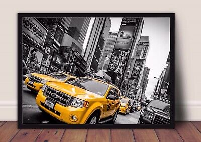 new york taxi cab print PICTURE WALL ART A4  unframed 22